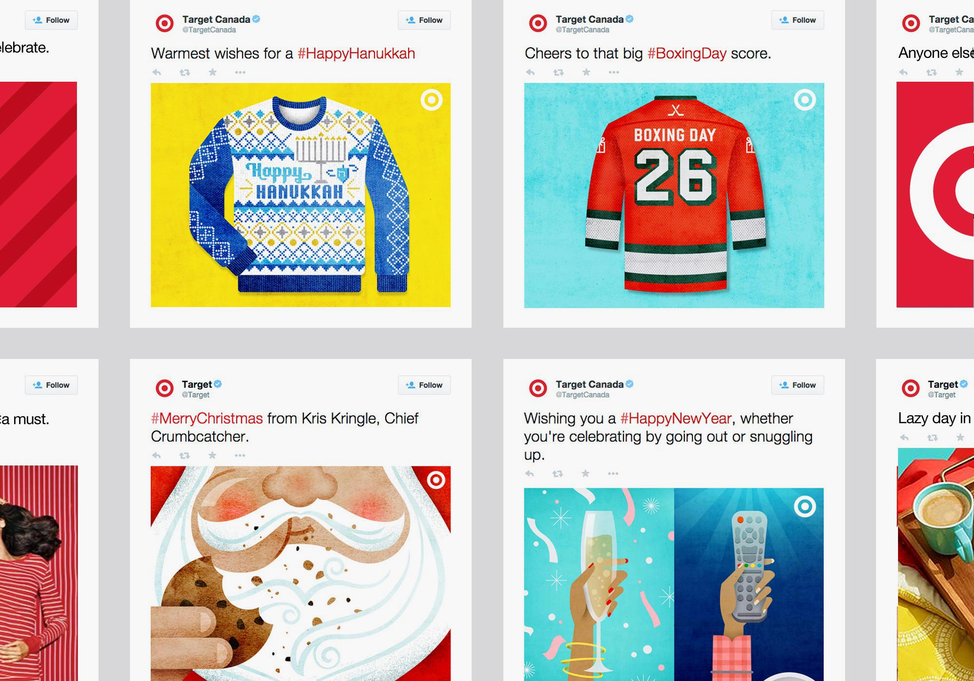 Target Holiday Social Campaign